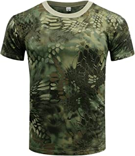 Hitecera .Camouflage Stars and Tents,Funny Humor T-Shirt Cotton T-Shirt for Men//Women S