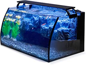 Hygger Horizon 8 Gallon LED Glass Aquarium Kit for Starters with 7W Power Filter Pump,..