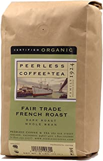 Peerless Whole Bean Coffee, Direct Trade, Organic, French Roast, 2 Pounds