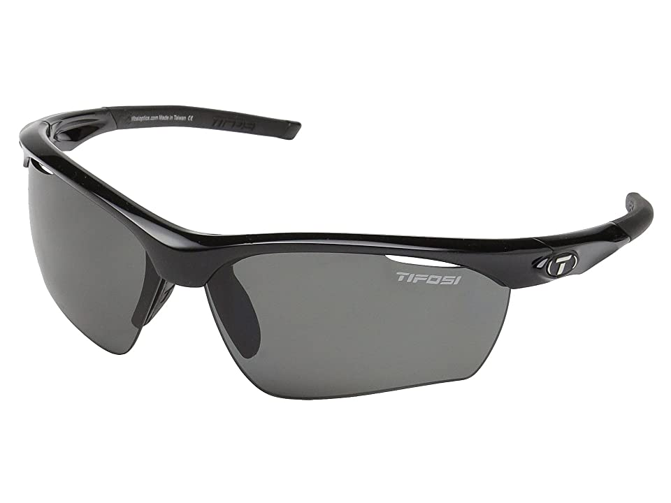 Tifosi Optics Vero (Gloss Black/Smoke Polarized Lens) Athletic Performance Sport Sunglasses