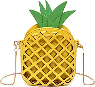 MILATA Fruit Pineapple Shaped Women Pu Leather Clutch Purse Cross Body Bag