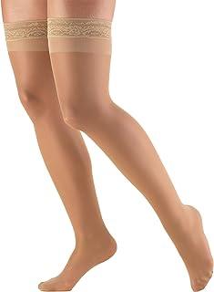 Truform Sheer Compression Stockings, 8-15 mmHg, Women's Thigh High Length, 20..