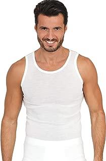 EGI Luxury Wool Silk Men's Sleeveless Shirt Muscle Tank Top. Proudly Made in Italy.