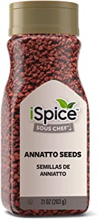 iSpice PREMIUM ANNATTO SEED | All Purpose |Essential Kitchen Spices |All natural |7.1 oz (203g)