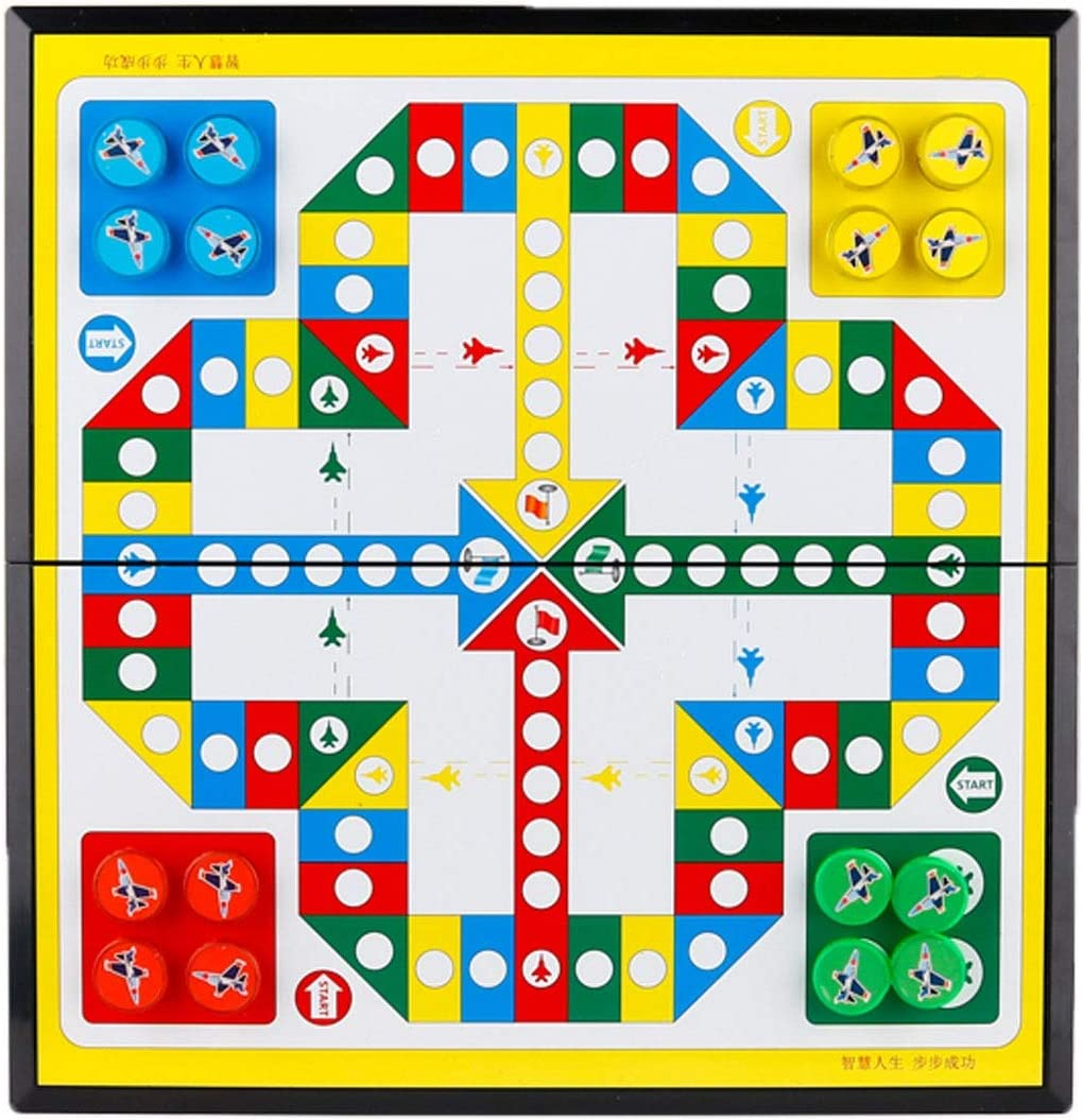 wanhaishop Board New arrival Games Flying Chess Checkers Los Angeles Mall Wooden Chinese Game