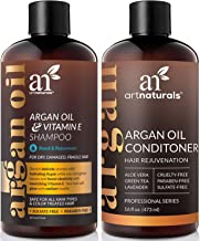 ArtNaturals Moroccan Argan Oil Hair Loss Shampoo & Conditioner Set - Hair Regrowth (2x16Oz) Sulfate Free- Treatment for Hair Loss, Thinning Hair & Hair Growth, Men & Women- Made W/Organic Ingredients
