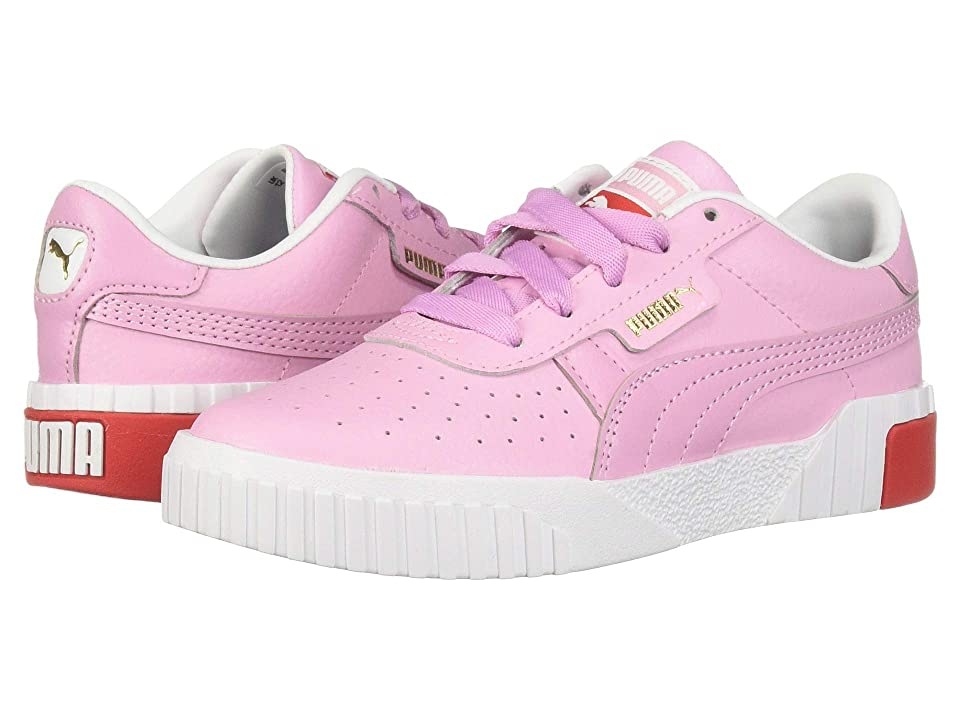 Puma Kids Cali (Little Kid) (Puma White/Hibiscus) Girl