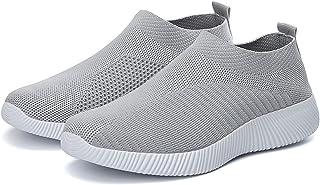 Womens Walking Shoes Lightweight Slip-on Breathable Sneakers Slip on Sock Sneakers Lady Girls...