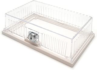 Bramec Corporation Clear Plastic Designer Thermostat Guard- Solid and Ring Bases - 7-1/16