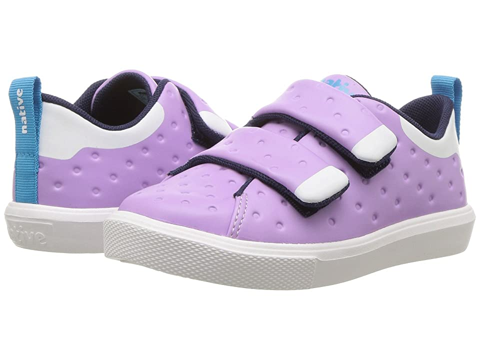 Native Kids Shoes Monaco HL CT (Toddler/Little Kid) (Lavender Purple CT/Shell White) Girls Shoes