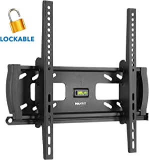 "Mount-It! Lockable Anti Theft Tilt TV Wall Mount, Locking Bar Security Wall Mount fits 32"" to 55"" Flat Screen LCD LED Plasma TVs, up to 99 lbs (MI-2244T)"