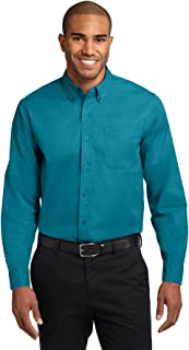 teal mens button down shirt