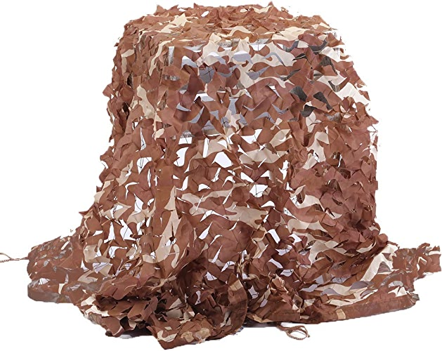 WNpb Camouflage de Champ de Filet de Camouflage dans Le désert, campement Militaire, Chasse au tir cachée à l'aveuglette en Train de Regarder la décoration de fête 2m × 3m (Taille   6m×8m)