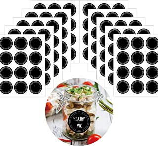 180 Pieces Chalkboard Labels, Waterproof Reusable Round Blackboard Stickers Pantry Labels Adhesive Black Stickers for Kitchen