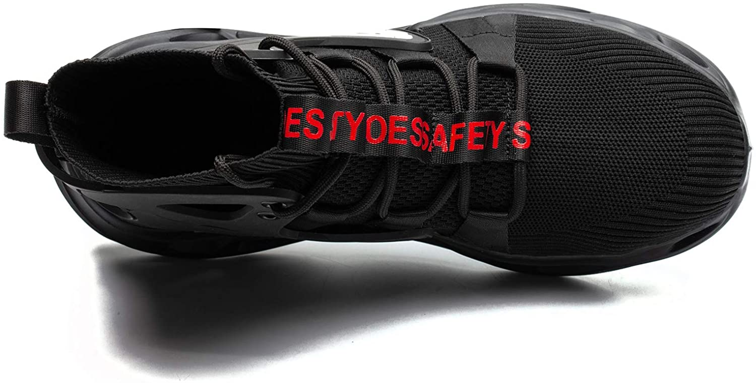 ORISTACO Work Safety Steel Toe Boots, Lightweight Breathable Industrial Construction Boots : Clothing, Shoes & Jewelry