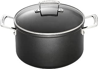 Le Creuset Olla de aluminio antiadherente con tapa, Ø 24 cm, libre de PFOA, para todas las fuentes de calor, incluso la inducción, antracita/plateado