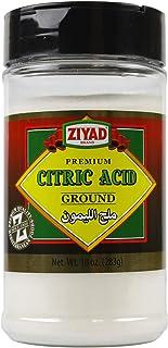 Ziyad Shaker Premium Citric Acid,100% All-Natural, No Additives, No Preservatives, 10 oz