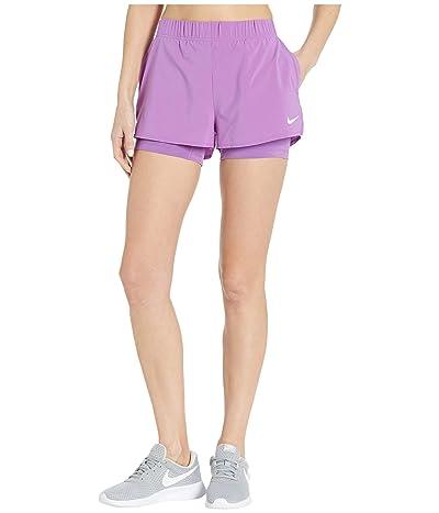 Nike Flex Shorts (Purple Nebula/White) Women