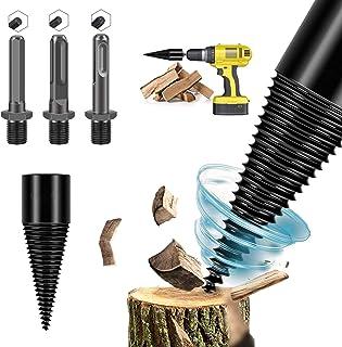 Sponsored Ad - Wood Splitter Drill Bit.4pcs Removable Firewood Log Splitter Drill Bit, Heavy Duty Drill Screw Cone Driver ...
