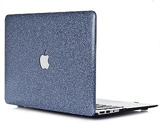 保護ケース 用に13.3インチ Apple Macbook Air 新しいが タッチIDセンサーが内蔵され モデル番号:1932 - L2W ノートパソコン 付属品 硬質プラスチック 光沢 あるPUレザーカバーカバー ダークグレー