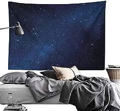 MaureenAustin Polyester Tapestry DecorativeNight,Space with Billion Stars Inspiring View Nebula Galaxy Cosmos Infinite Universe, Dark Blue White Light-Weight Polyester Wall Fabric Home Decor60 x60