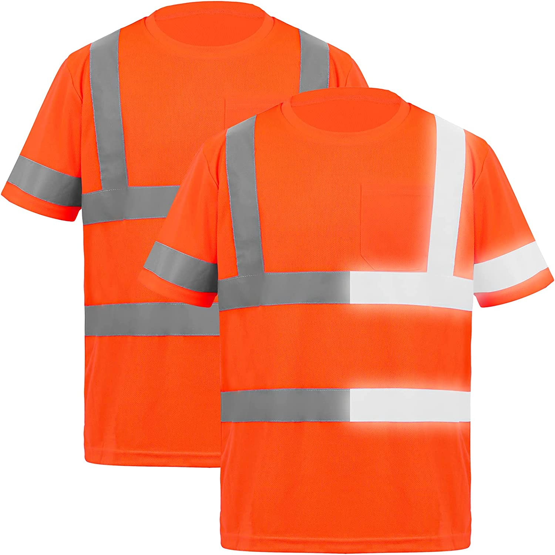 URATOT 2 Pieces 5 popular Reflective Safety Shirts price High Vis T Hi Vi