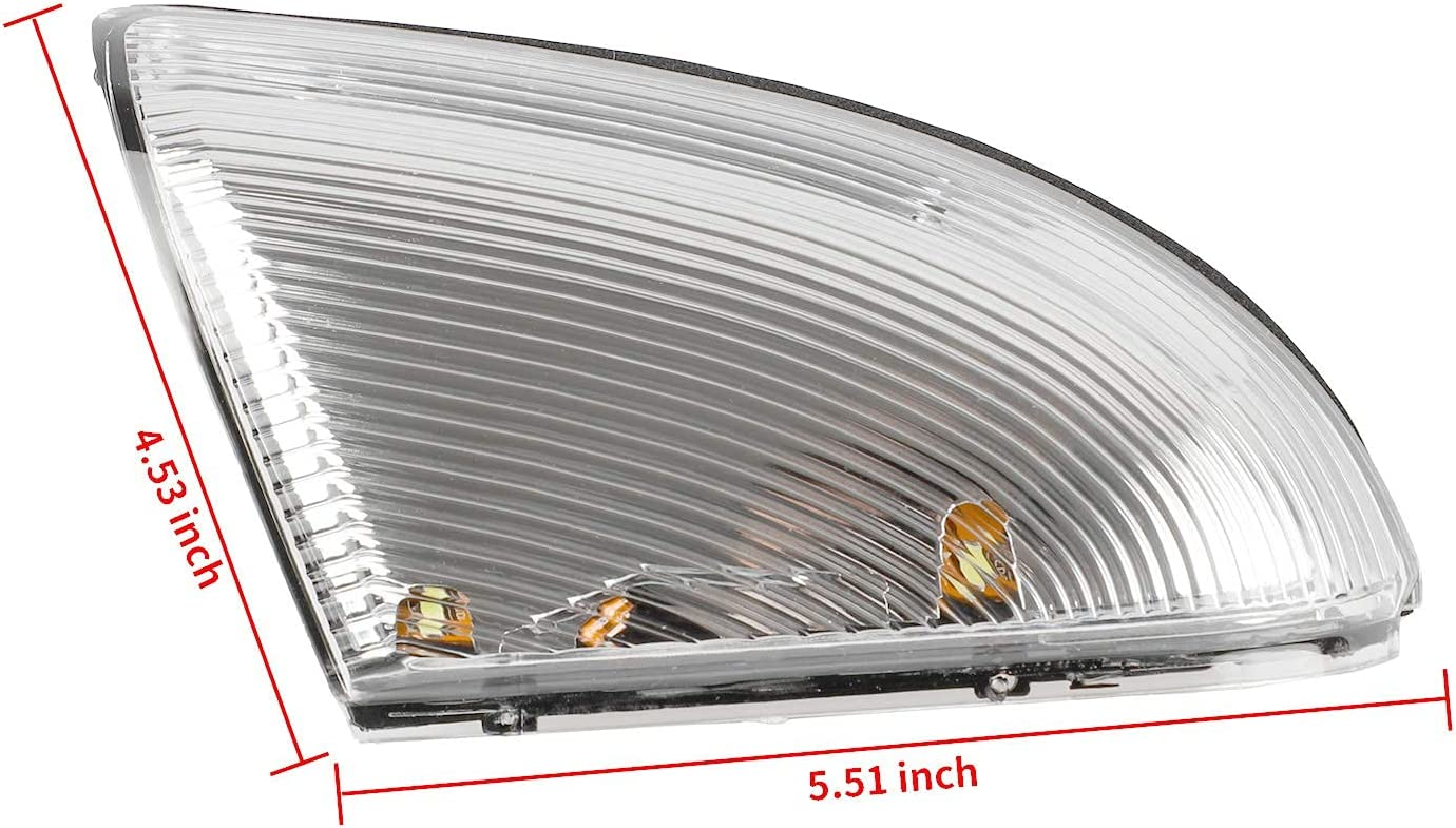 Drive Side Mirror Turn Signal Light LED Left Lamps Compatible with 2009-2013 Dodge Ram 1500 2500 Replace # 68064949AA
