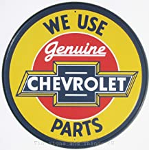 ShopForAllYou Vintage Decor Signs We Use Genuine Chevrolet Parts Round TIN Sign VTG Chevy Garage Metal Decor 1072