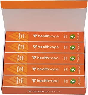 Energy Caffeine + Vitamin B12 Energy Inhaler Pen with Orange and Cassia Oils + L-Theanine - Citrus Flavored Daily Vitality Supplement - 5 Pack