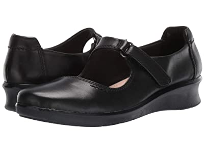 Clarks Hope Henley (Black Leather) Women