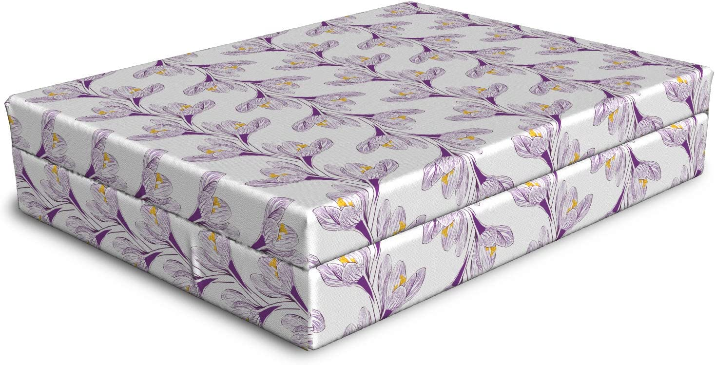 Ambesonne Floral Dog Bed Continuous Drawn 5 ☆ popular High order Hand Vertica Inspired