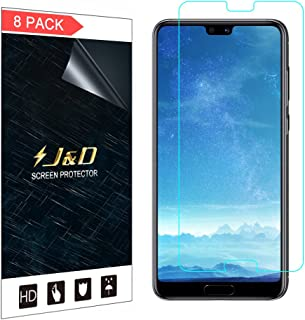 J&D Compatible for 8-Pack Huawei P20 Pro Screen Protector, [Not Full Coverage] HD Clear Film Shield Screen Protector for Huawei P20 Pro Crystal Clear Screen Protector - [Not for Huawei P20/P20 Lite]