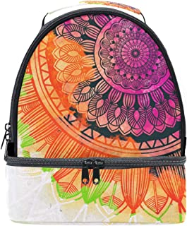 Mydaily Kids Lunch Box Watercolor Mandala Reusable Insulated School Lunch Tote Bag