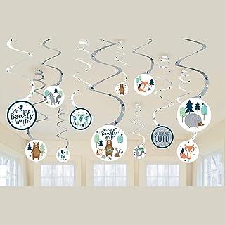 Amscan 672164 Bear-ly Wait Swirl Decorations-12pcs, Multicolor, 113.4g