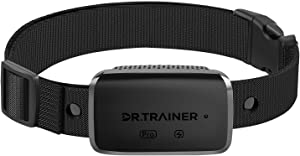 Dr.Trainer B1sPro Bark Collar with APP & Smart Watch Control, Waterproof Dog Bark Collar with Barking Record, Humane Custom Settings and Progressive Mode Rechargeable Dog Shock Collar