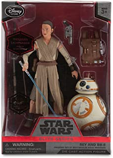 Star Wars Rey and BB-8 Elite Series Die Cast Action Figures - 6 Inch The Force Awakens