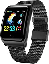Smart Watch for Android and iOS Phone 2020 Version Smartwatch IP68 Waterproof,Bluetooth Fitness Activity Tracker with Heart Rate Blood Pressure Monitor Step Sleep Tracker Message Reminder,Men Women
