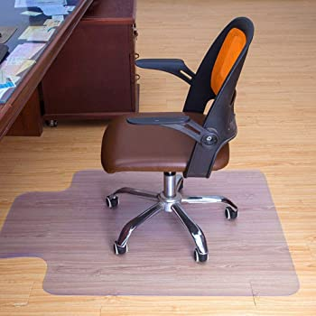 ReaseJoy Rectangle PVC Chair Mat with Lipped Spiked Back Non-slip for Carpet Floor Protection 120x90cm