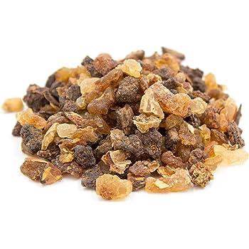 Myrrhe de première qualité pour fumer et brûler sur charbon de bois, résine pure grossièrement broyée, encens Luxflair® original dans un paquet de 50g.