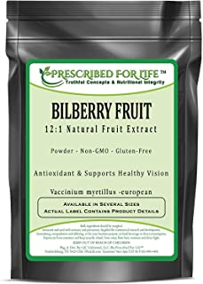 Bilberry Fruit - 12:1 Natural Fruit Powder Extract (Vaccinium myrtillus -European), 12 oz (340 g)