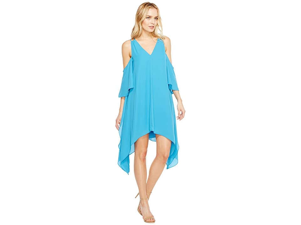 Adelyn Rae Fiona Woven Shift Dress (Turquoise) Women