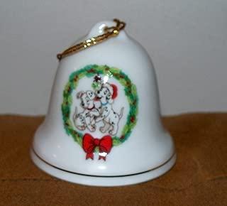 Disney Grolier Porcelain 101 Dalmatians Bell Ornament NEW!