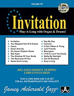 Jamey Aebersold Jazz -- Invitation, Vol 59: Play-A-Long with Organ & Drums!, Book & 2 CDs (Play- A-Long, Volume 59)