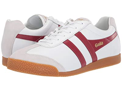 Gola Harrier Leather (White/Deep Red) Men
