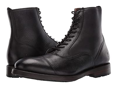 Frye Bowery Bal Lace-Up (Black Soft Antiqued) Men