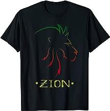 Zion King Lion Shirt Zion Africa Shirt Rastafarian Color Tee