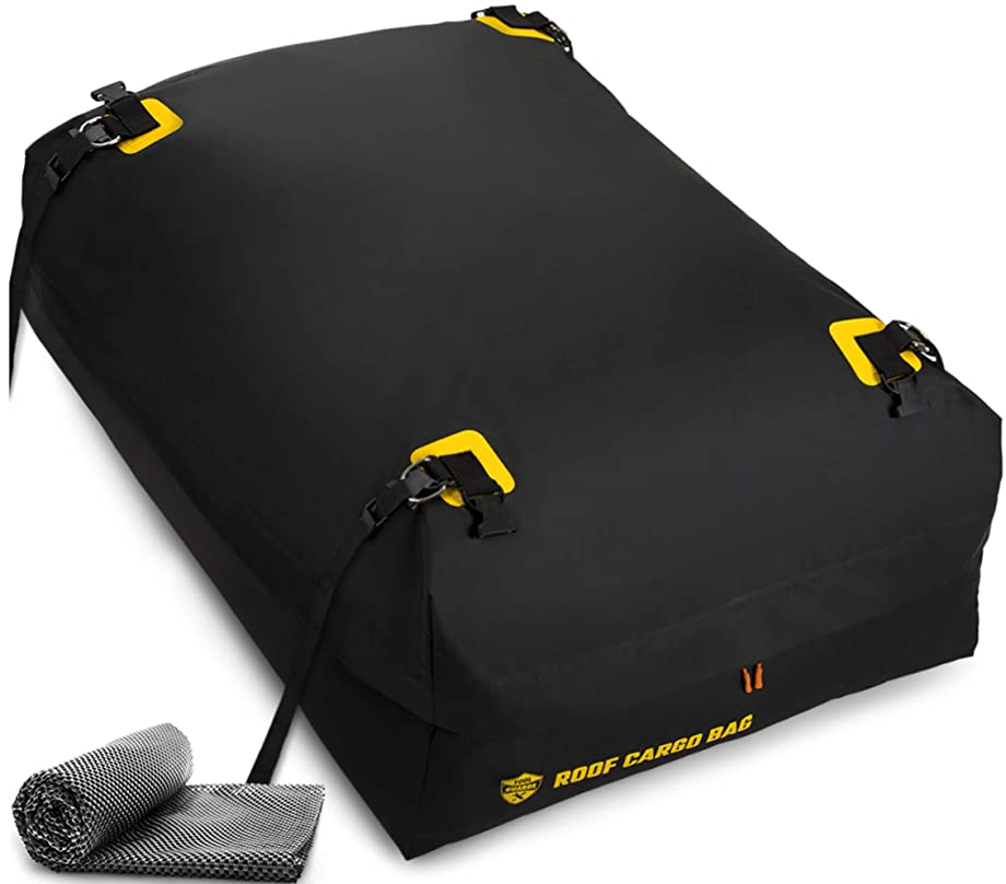 Car Top Carrier Roof Bag 100% Waterproof with Protective Mat Car Top Carriers for Vehicles with Racks - Car Roof Storage Car Carrier - Car Carriers Rooftop Car Top Carriers for Vehicles Without Racks