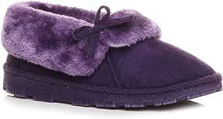 Ajvani Women's Fur Lined Luxury Ankle Boots Slippers Size