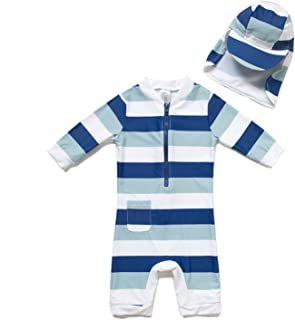 3b35c2595 ... Baby Boys' Swimwear Sunsuits · Bonverano(TM) Kids UPF 50+ Sun  Protection S/S One Piece Zip