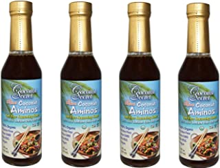 Coconut Secret Coconut Aminos (4 Pack) - 8 fl oz - Low Sodium Soy Sauce Alternative, Low-Glycemic - Organic...